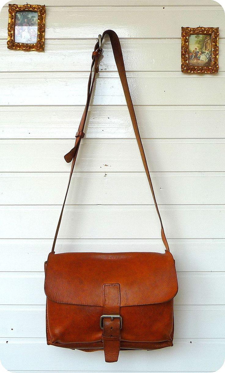 Vintage Leder Messenger Lehrer Tasche Schultertasche Bag Uni Umhängetasche Natur | eBay