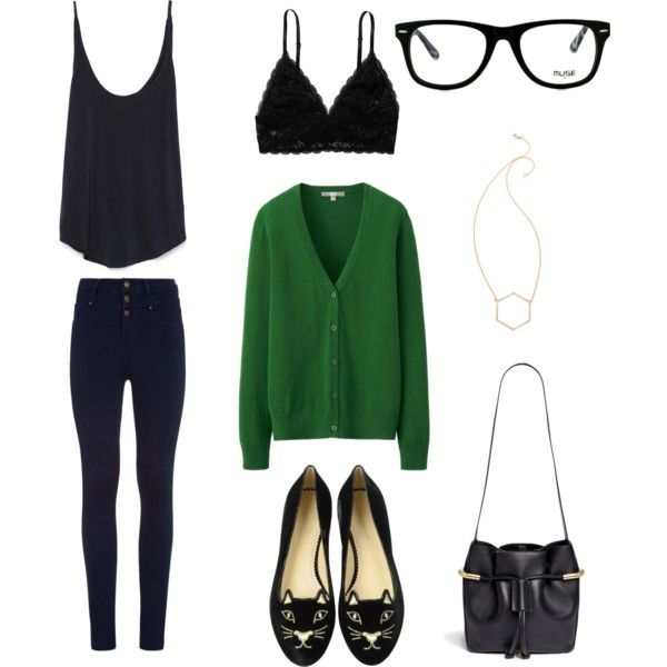 Exam day by bambyee on Polyvore featuring polyvore, fashion, style, Uniqlo, Zara, Monki, Charlotte Olympia, Chloé, MARC BY MARC JACOBS and GlassesUSA