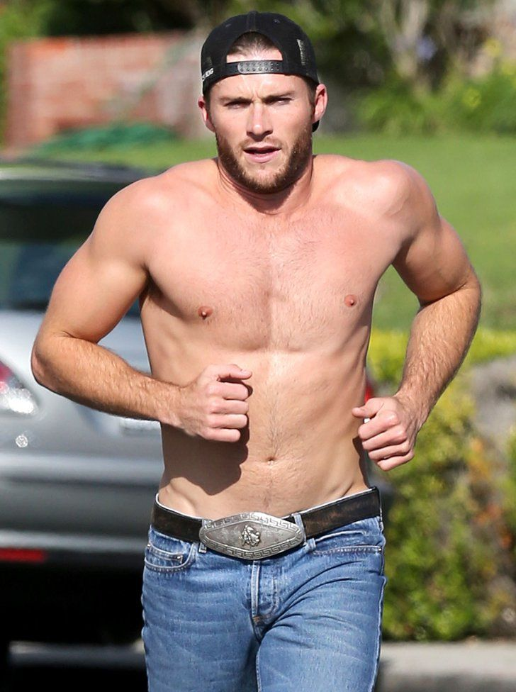 Pin for Later: Scott Eastwood Works Out in Jeans and Only Jeans, Because He Can