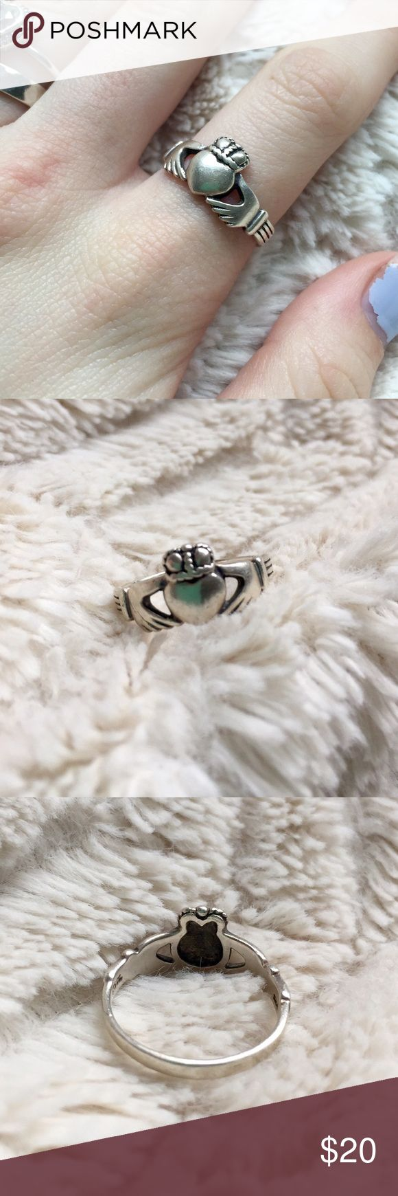 Selling this Vintage Sterling Silver Irish Claddagh Heart Ring on Poshmark! My username is: herroyalshyness. #shopmycloset #poshmark #fashion #shopping #style #forsale #Vintage #Jewelry