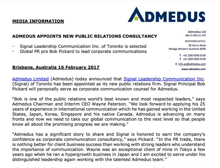 Admedus selects Signal as PR agency