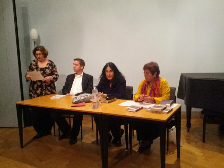 "Lesung: ""Völkerverständigung Literarisch"" von Griechische Akademiker in Berlin und Brandenburg — with Andreas Deffner and Emine Sevgi Özdamar at Schwartzsche Villa, Berlin, 19. Oktober 2012"