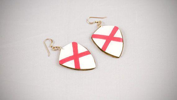 #handmade #heraldic #ireland #earrings #thesilverlance #etsy
