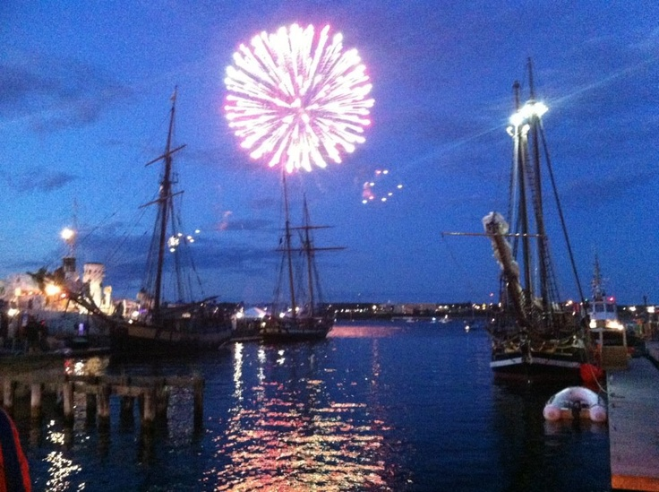 Halifax Waterfront, Fireworks during Tall Ships