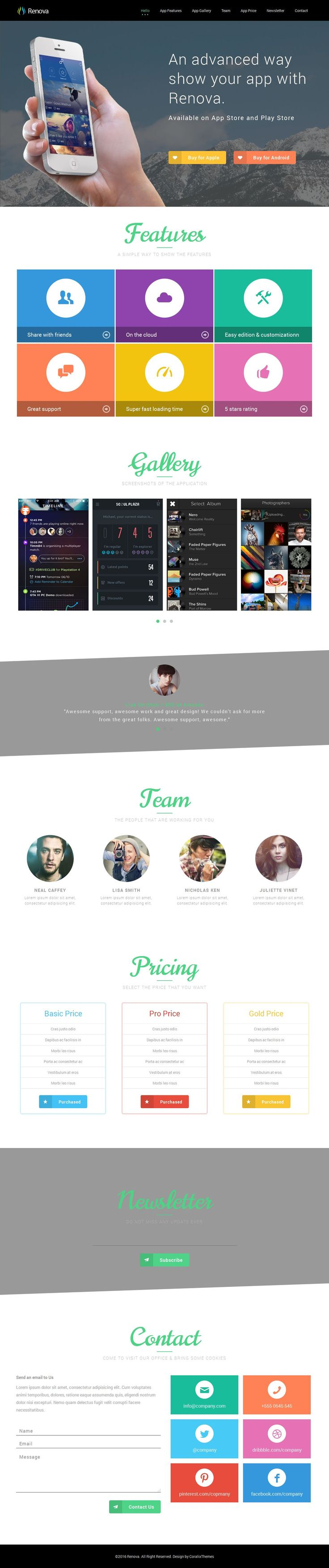 43 best Landing Page Templates images on Pinterest | Landing pages ...