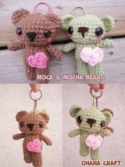 Hi, Ohana Craft lovers, thank you for your support and LIKE on facebook, i'm planning on a free pattern giveaway when the LIKE hit 1000, what do you think? These two little bears are Moca and Mocha,...