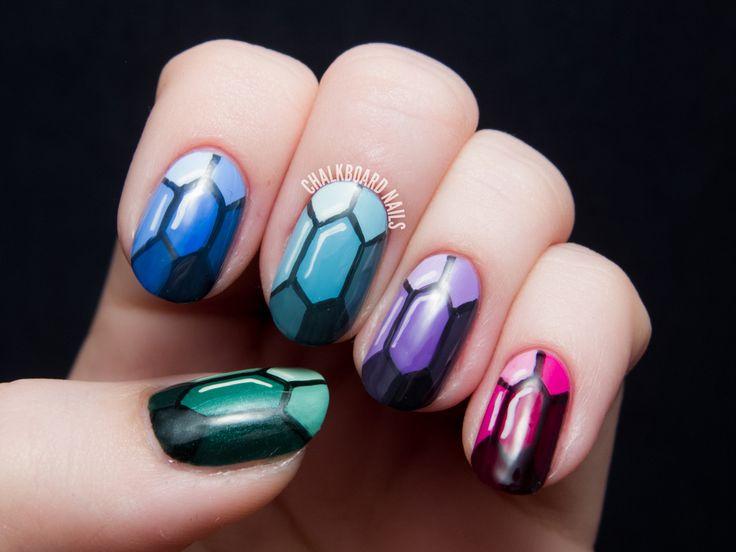 Chalkboard Nails | Nail Art Blog