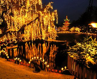 Christmas in Tivoli Gardens, Copenhagen, Denmark. It was so magical!