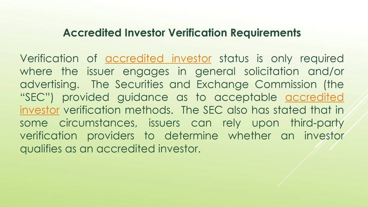 What Is An Accredited Investor Verification Provider?