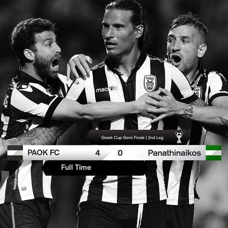 Νίκη με 4-0 και πρόκριση στον τελικό για την ομάδα μας #PAOKPAO #GreekCup #NaiRePAOKARA