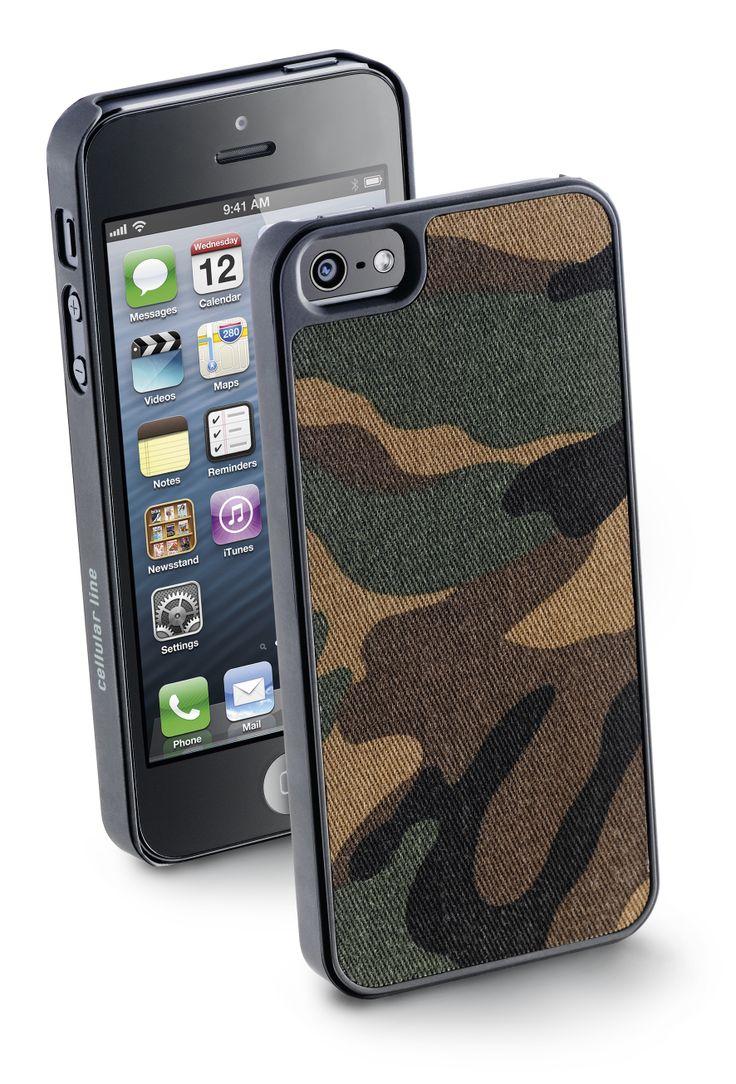 #Cover #army in tessuto #camouflage per il tuo iPhone 5/5S in stile #mimetico.