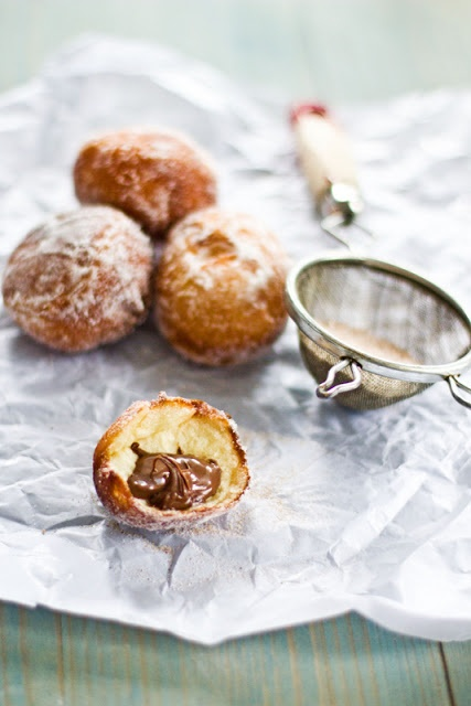 Sips and Spoonfuls: Nutella Doughnuts - the two best sins in food.