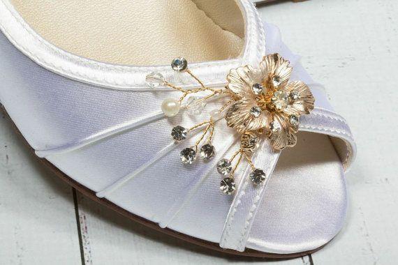 Rose Gold Wedding Shoes  Custom Wedding Shoes  Wedge by Parisxox