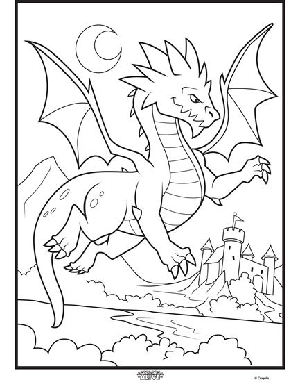 Dragon Color Alive  See more wonderful coloring pages by Crayola at http://www.crayola.com/free-coloring-pages/