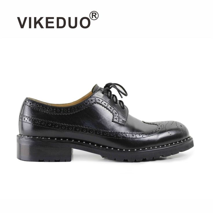 216.00$  Watch more here  - 2016 Vintage Men handmade mens Derby Shoes black shoes 100% Genuine leather shoes