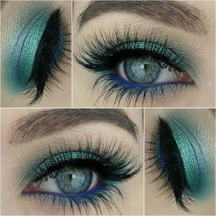 maquillage yeux en été en turquoise et pétrole à effet yeux de sirène