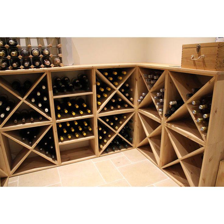 pine wooden wine rack cellar cube 24 bottles 298mm deep wine racks