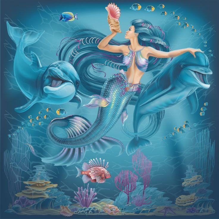 картинки русалочки с дельфином здесь подробнее вариантах