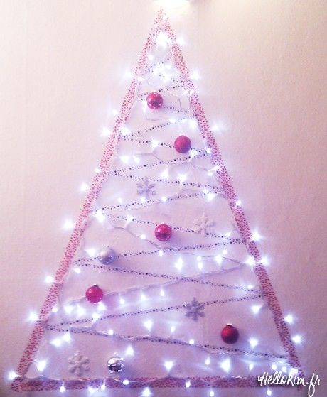 String Lights Wall Christmas Tree : Best 10+ Real christmas tree ideas on Pinterest