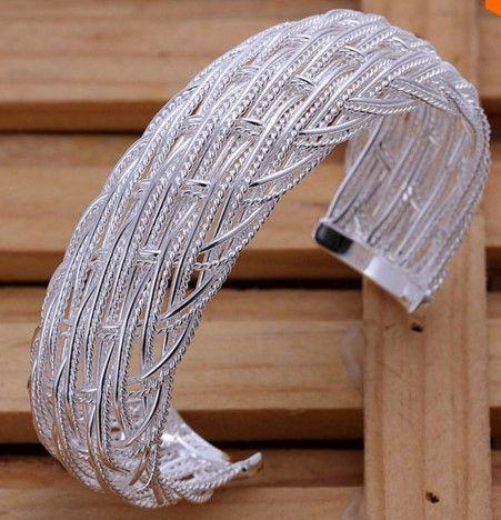 Wide Mesh Cuff Bracelet