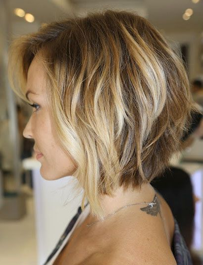 pretty loose waves inverted bob.