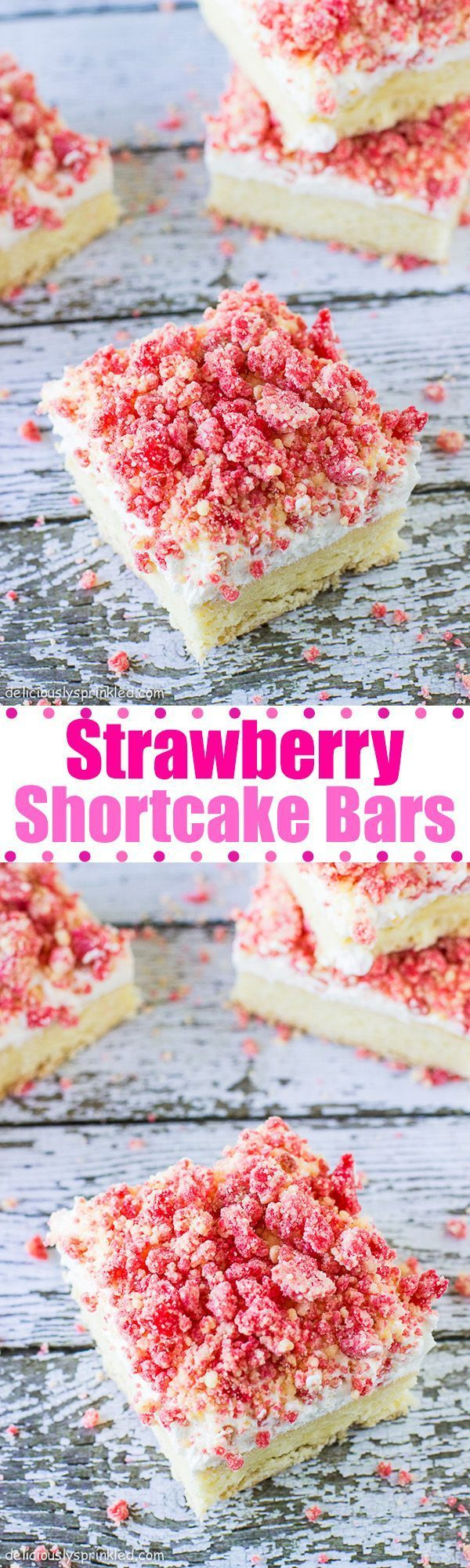 Strawberry Shortcake Bars-easy summer dessert.