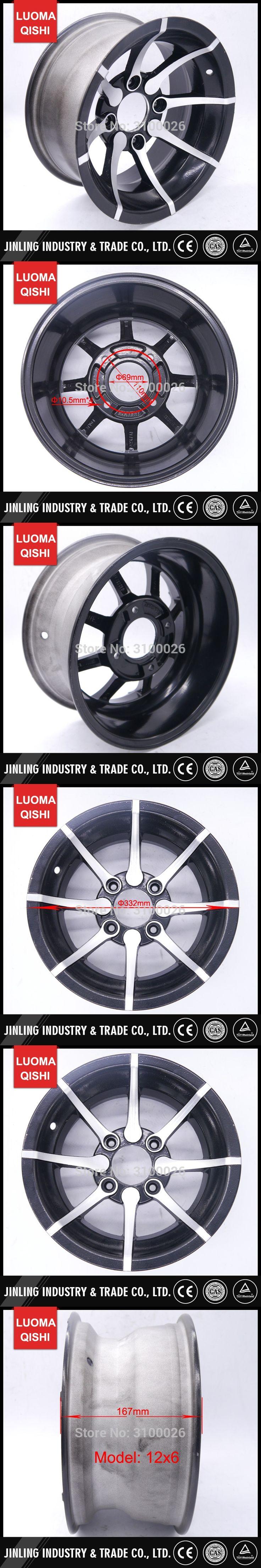 12x6 Alloy Aluminium Rim Fit for 12 inch Tire Wheel 205/30-12 Racing Road ATV Quad Bike UTV Buggy Go Kart Karting parts