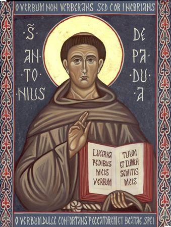 icona di sant'Antonio da Padova-www.mirabileydio.it
