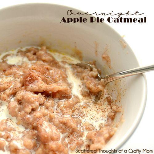 Overnight Apple Pie Oatmeal Recipe (Steel Cut Oats in the ...