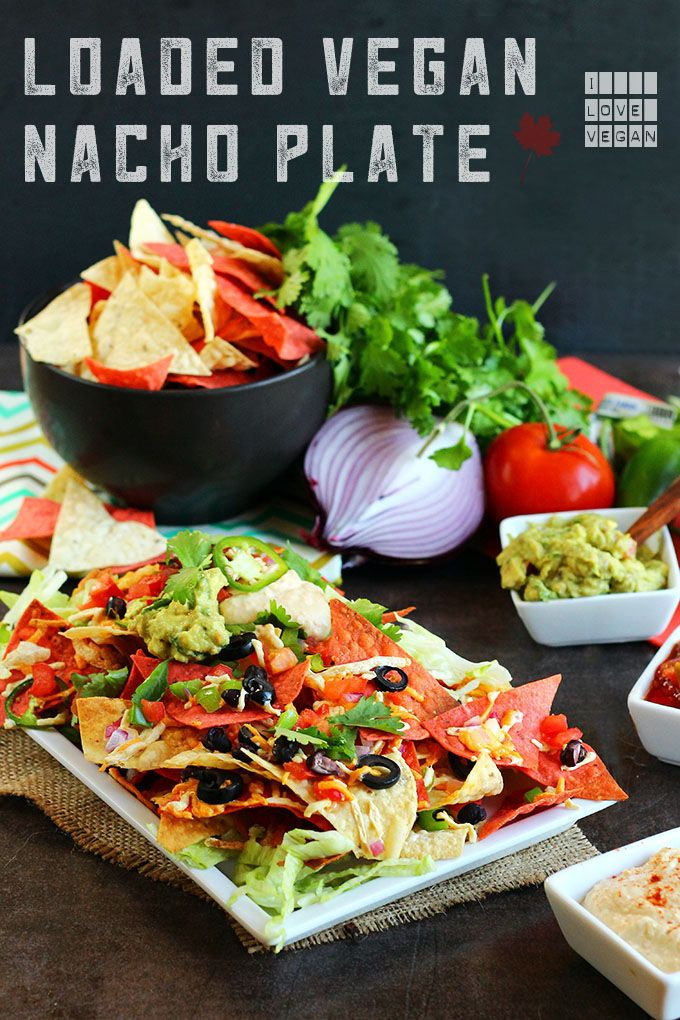 Loaded Vegan Nacho Plate - ilovevegan.com