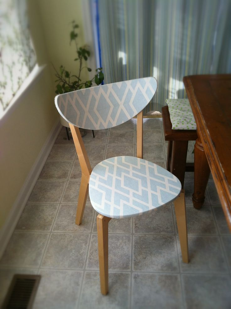 A Modge podge an fabric fix to old furniture...will work great for the small dinning table