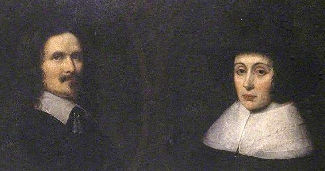 Sir Henry (1612-62) and Lady Alice Lingen, both from old Herefordshire families lived at Stoke Edith. He was flamboyantly Royalist in the Civil Wars, making one of the last stands for the King at Goodrich Castle. Defeated, he marched out, colours flying, to the song 'Sir Harry's Fancy'. This dark but moving portrait hangs in Hereford's Old House in the High Town.