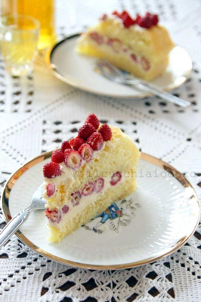 il cucchiaio d'oro » Torta con fragoline e limoncello