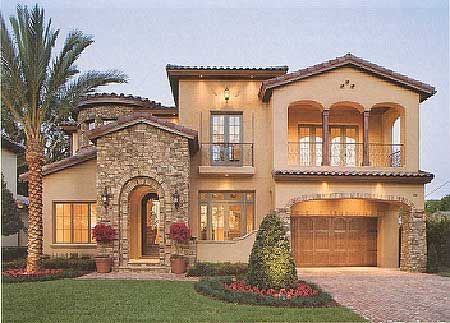 Plan W83376CL: Photo Gallery, Luxury, Premium Collection, European, Mediterranean, Florida House Plans & Home Designs