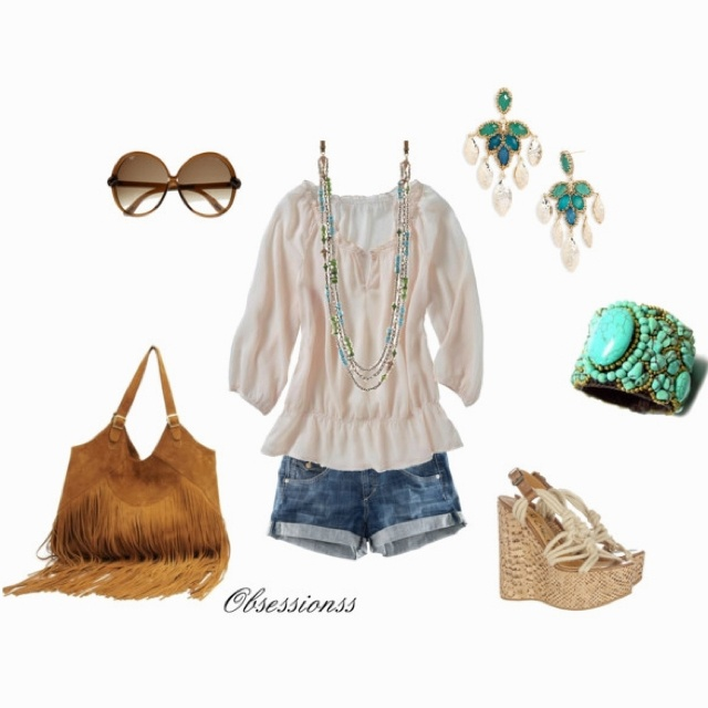 A little boho :) ( I would need some longer shorts to