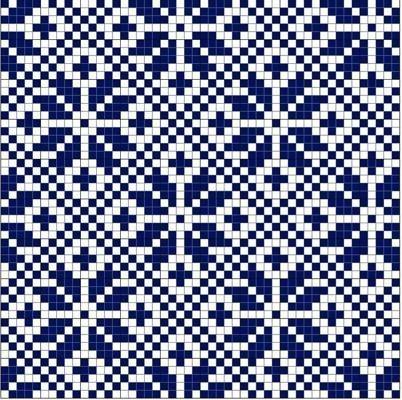 Snowflake in Diamond Norwegian Fair Isle pattern. simple, yet very effective