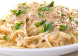 Article in BC Living, with original recipe: Linguine with BC albacore