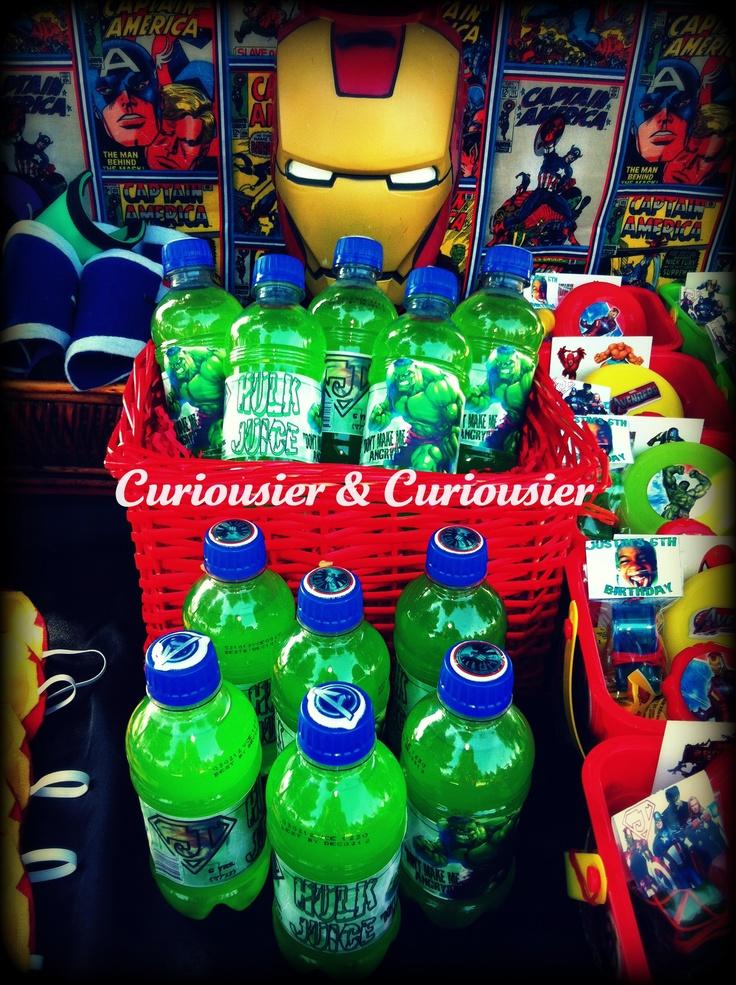 Avenger Birthday Party Decor Captain America Hulk