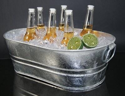 Fake Food Beer Bottles in Bucket on Ice
