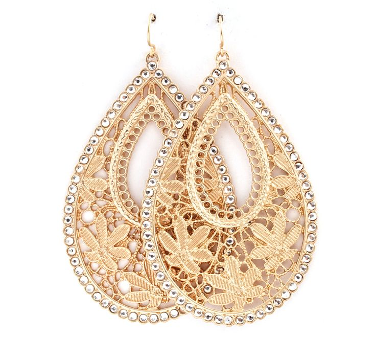 Crochet McKayla Earrings in Gold on Emma Stine Limited