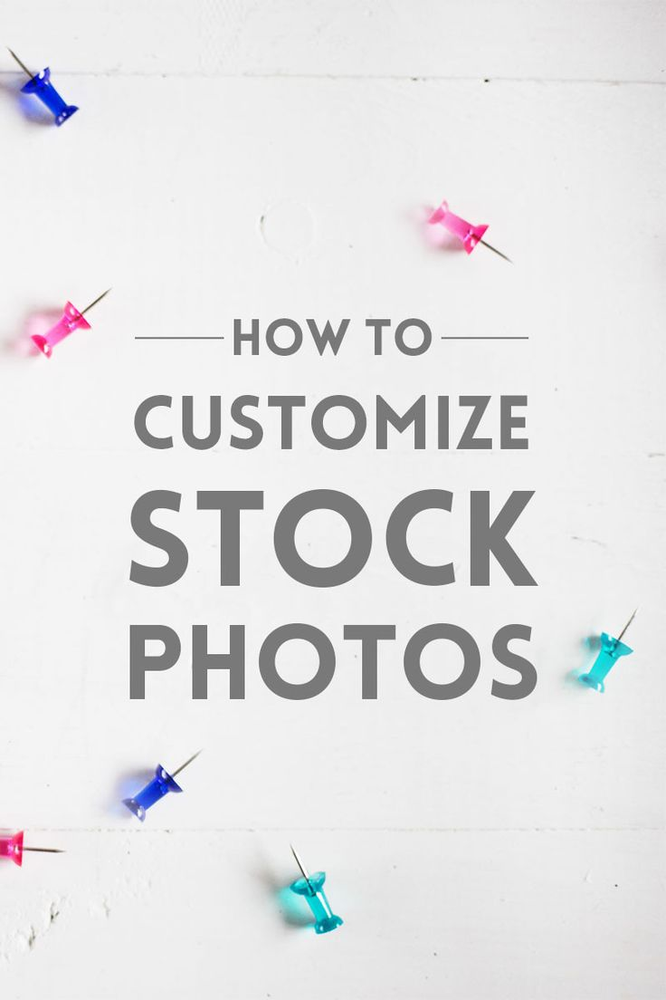 Stock photos are becoming more and more popular. Learn how to customize stock photos to make them look unique and fit your brand.