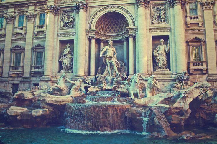 The majestic Trevi Fountain  #Rome #Italy #travel #culture