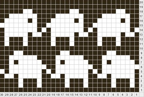 Marching Elephants chart ( could use for cross stitching a border or a bookmark?)