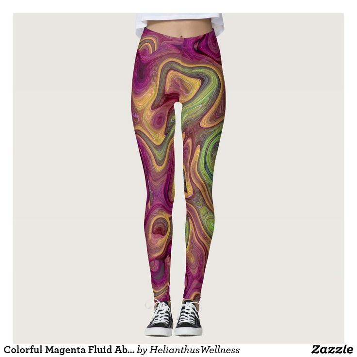 Colorful Magenta Fluid Abstract Leggings A colorful magenta fluid abstract design. #liquid #abstract #design #flowing #marble#fluid #splash #pattern #colorful #magenta #apparel #leggings Style AND comfort can both be king in one perfect pair of custom leggings. Custom made with care, each pair of leggings is printed before being sewn, allowing for fun designs on every square inch.  Medium weight fabric is sturdy, yet breathable, stretches to fit your body, hugs in all the right places