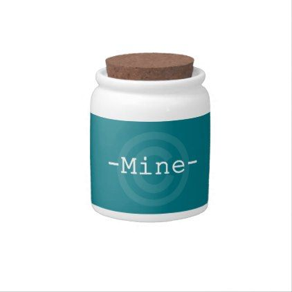 Ideal MINE Turquoise Candy Jar deco gifts