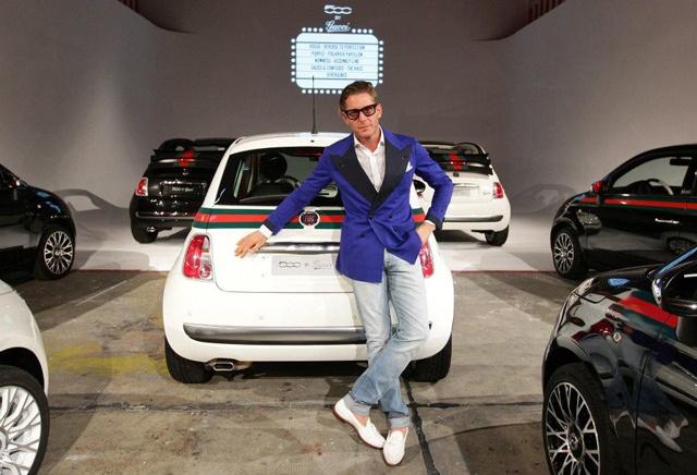 Lapo Elkan presents Drive-in Fiat 500 by Gucci - Design Week Milan