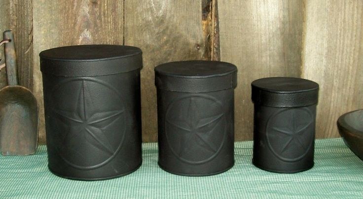 25 best ideas about primitive canisters on pinterest primitive kitchen canister set handmade wood black