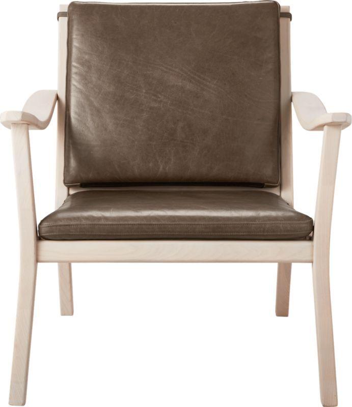 Parlay Dove Grey Leather Lounge Chair (With images) | Grey