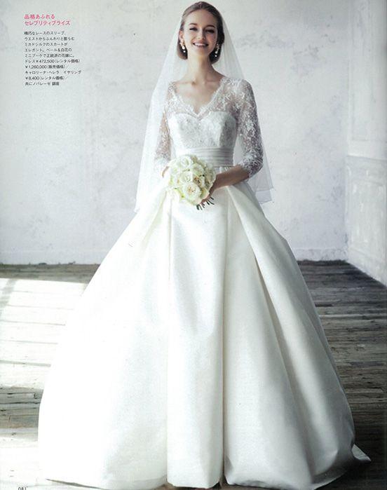 #NOVARESE #ノバレーゼ #ELLEmariage #エルマリアージュ#wedding #dress #P81 #Carolina Herrera #キャロリーナ・ヘレラ