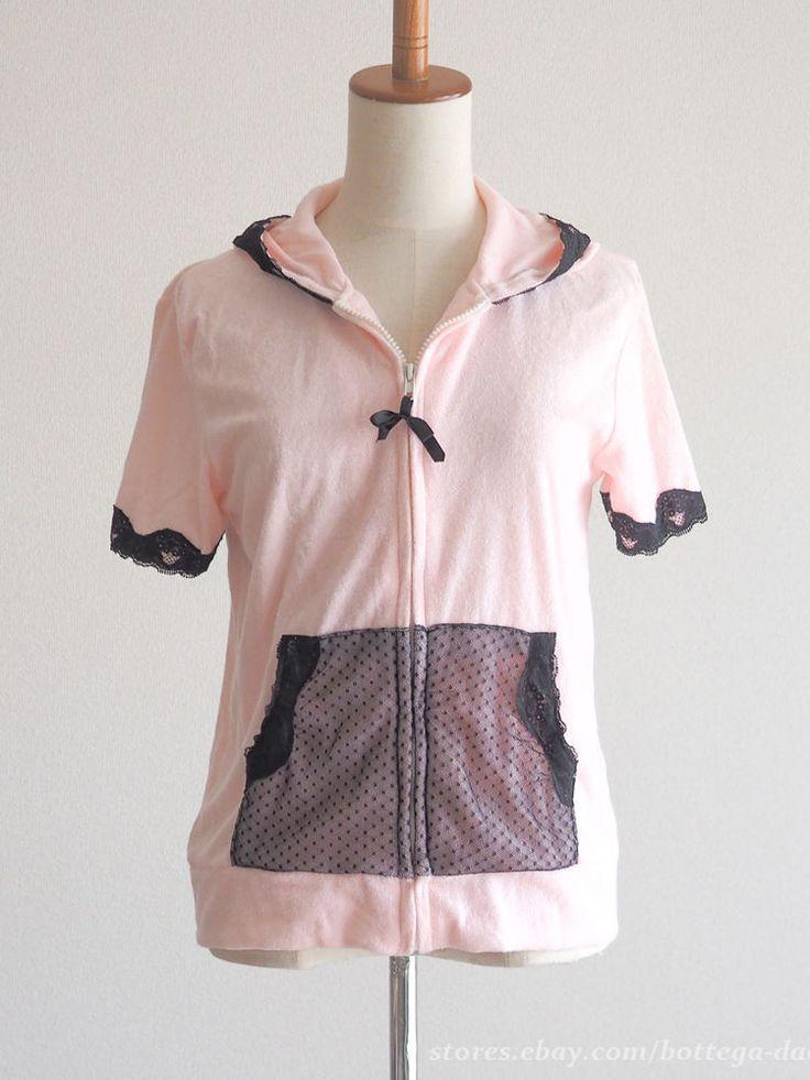 sugar doll Japan Lolita x Sports Mix Hoodie Parka Top Dress Ribbon SizeM~L #sugardoll #Blouse #Sports